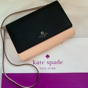 Authentic black and nude Kate spade crossbody